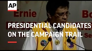 Presidential candidates on the campaign trail