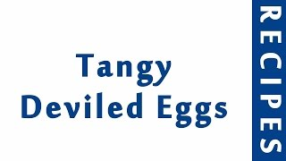 Tangy Deviled Eggs  Easy Low Carb Recipes  DIET RECIPES  RECIPES LIBRARY