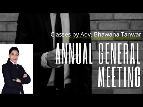 Annual General Meeting (Part-1) By Bhawana Tanwar Mam