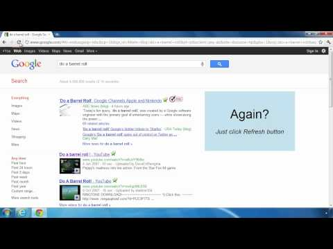 Do a barrel roll effect on Google Search