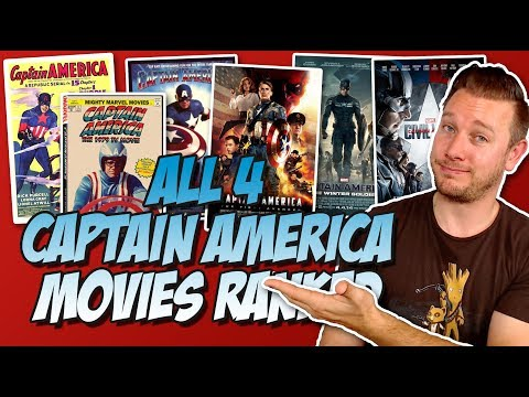 All 4 Captain America Movies Ranked (w/ the 1944 Serials & 1979 TV Movies & the MCU)