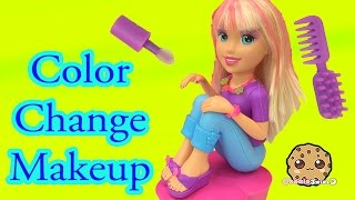 Color Change Hair, Nails and Makeup with Polly Pocket Makeover Doll - Cookieswirlc Video