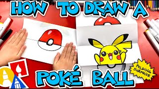 How To Draw A Pok Ball Folding Surprise - #stayhome and draw #withme