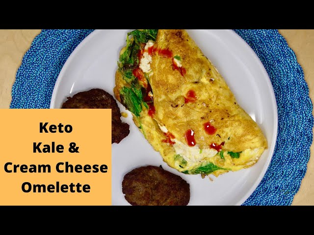 Keto Kale & Cream Cheese Omelette!