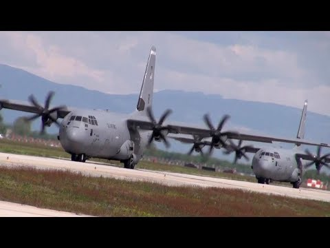 US Paratroopers Takeoff in C-130s. Obama Sends a Serious Message To Putin.