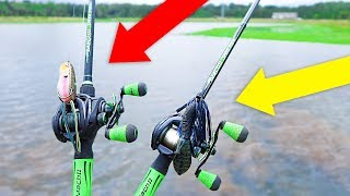 Searching for GIANT Bass w/ FROGS and BIG JIGS (Bank Fishing)