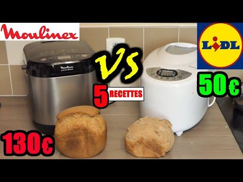 lidl-vs-moulinex-machine-à-pain-silvercrest-:-5-recettes-!-pain-rapide-complet-pizza-brioche