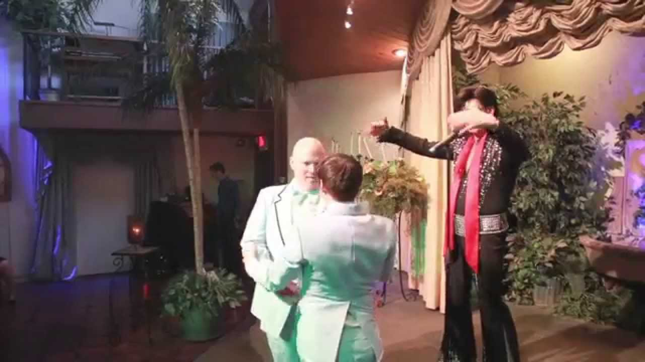 Aaron & Mark Get Married @ Viva Las Vegas with Elvis #2men1elvis