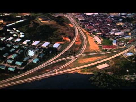 University of Panama building in Panama Canal Zone HD Stock Footage