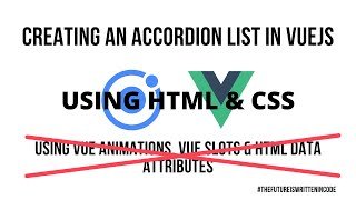 Ionic VueJS - Creating an Animated Accordion List Component in HTML & CSS