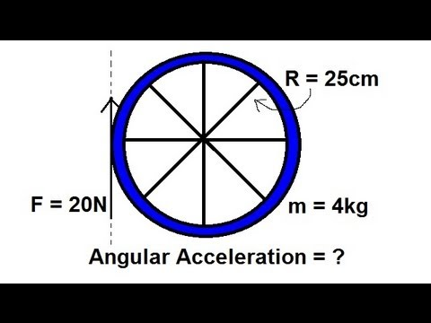 Physics - Mechanis: Application of Moment of Inertia and Angular Acceleration (1 of 2) Rolling Wheel
