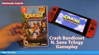 Nintendo Switch: Crash Bandicoot N. Sane Trilogy Gameplay