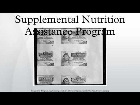 Supplemental Nutrition Assistance Program - YouTube