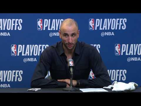 Manu Ginobili Postgame Interview | Warriors vs Spurs - Game 4 | April 22, 2018 | 2018 NBA Playoffs