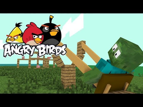 Monster School: ANGRY BIRDS - Minecraft Animation