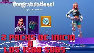FORTNITE -- SWEEPSTAKES TWO HOME PACKS TO 1500 SUBS -- ROAD TO 1200 SUBS #RubiusTrials