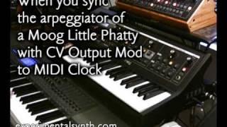 Moog Little Phatty - Arpeggiator, MIDI And CV Applications