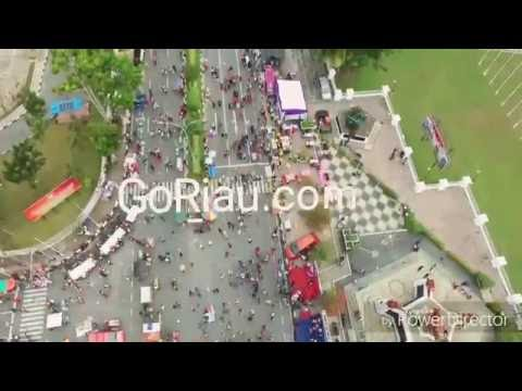 Car free day Jalan Diponegoro at GoDrone GoRiau.com