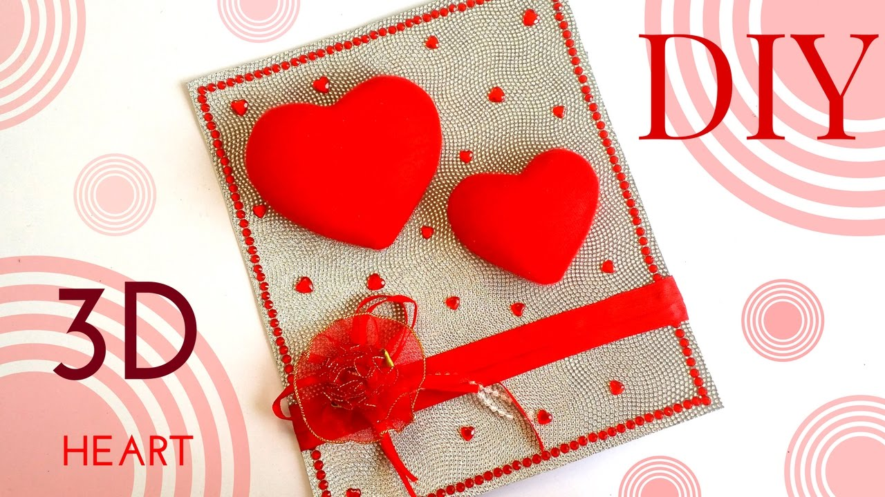 Easy Quick DIY 3D Heart Design Greeting Card