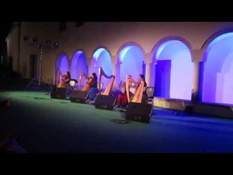 """Torre de Moncorvo, 21 Junho 2018 . - Quarteto de Harpas """" LULAVAI """"."""