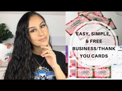 How To Make Thank You/Business Cards For FREE & EASY + How To Print   DEPOP Seller Tips