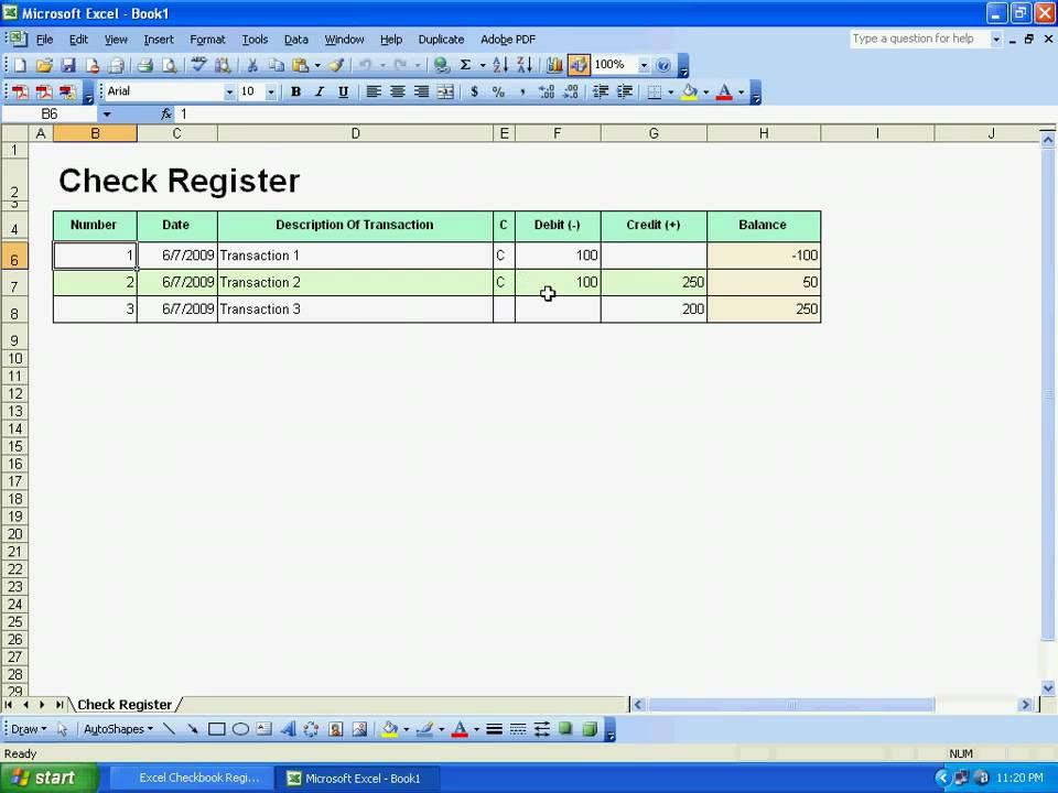 Sobolsoft com How To Use Excel Checkbook Register Template Software
