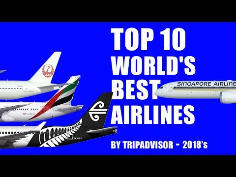 Top 10 World's Best Airlines 2018 : By TripAdvisor
