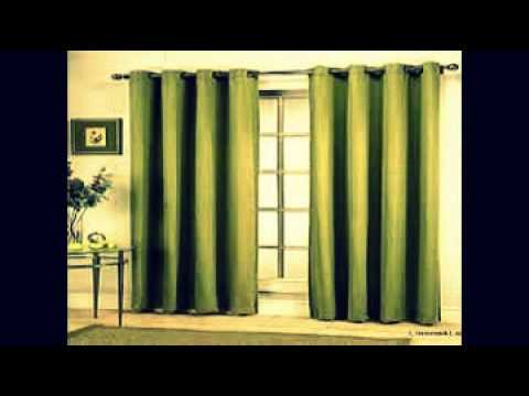 sliding door curtains - YouTube