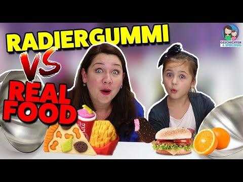 REAL FOOD vs. RADIER GUMMY FOOD Challenge 😂  Geschichten und Spielzeug