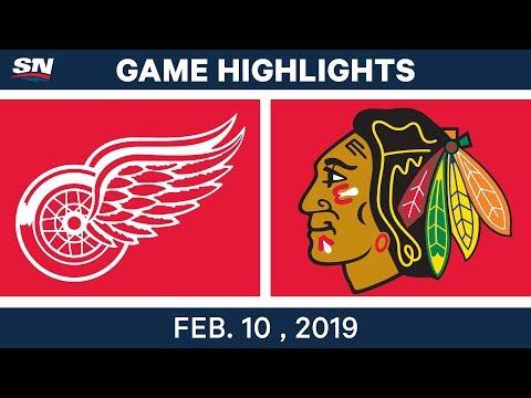 NHL Highlights | Red Wings vs. Blackhawks - Feb 10, 2019