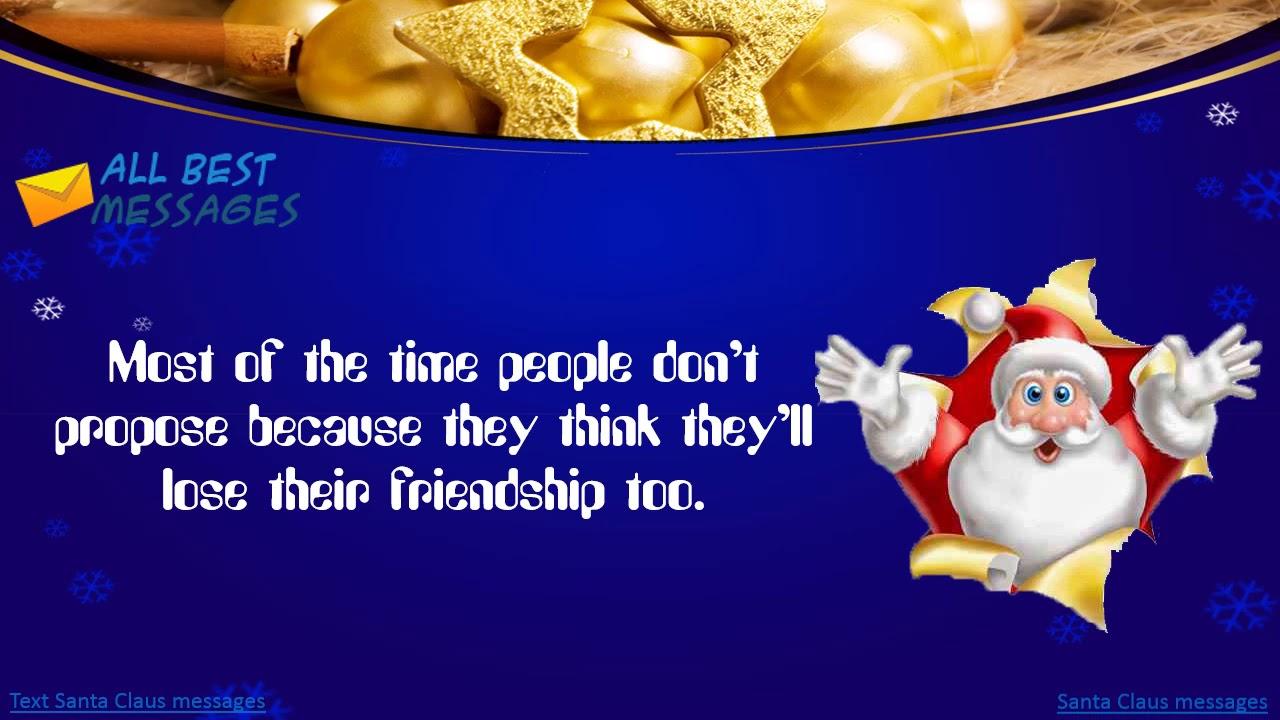 Text Santa Claus messages, Santa Claus SMS messages - YouTube
