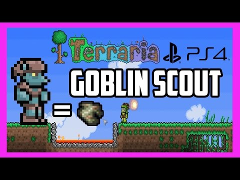 Terraria PS4 Father And Son Gameplay | Exotic Butters, Goblin Scouts, And Tattered Cloth [9]