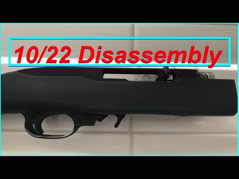 Ruger 10/22 Takedown Receiver Disassembly