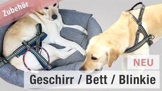 Hurtta Norwegergeschirr • Hundebett • Leuchthalsband // Hundekanal Norweger Geschirr