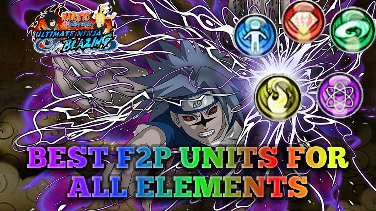 BEST F2P UNITS FOR EACH ELEMENT!!! NARUTO BLAZING