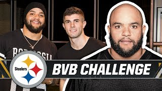 Roosevelt Nix vs. BVB's Christian Pulisic in Football/Fútbol Challenge   Pittsburgh Steelers