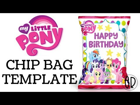 MY LITTLE PONY CHIP BAG FAVOR | HOW TO MAKE WITH FREE TEMPLATE