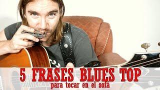 CINCO FRASES BLUES TOP 🛋  para tocar en el sofá con tu armónica en C