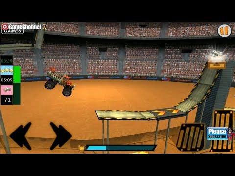 Monster Bus Destruction Grand Finale / 4x4 Truck Stunt Games / Android Gameplay Video #4