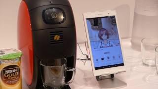 ネスレがソニーモバイルコミュニケーションと開発中のIoT時代のコーヒーメーカー