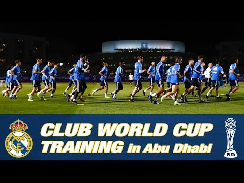 CLUB WORLD CUP | Real Madrid's first training session in Abu Dhabi