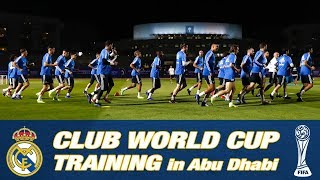Watch real madrid's first training session in abu dhabi as they prepare for the 2018 fifa club world cup!