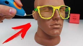 ПЕРВАЯ 3D РУЧКА - КОТОРАЯ РИСУЕТ МЯГКИМ ПЛАСТИКОМ !  НАРИСОВАТЬ МАСКУ СПАЙДЕРМЕНА ?!