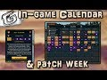 In-game Calendar & patches - June 18, 2018