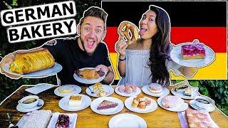 American Girlfriend Tries German Bakery Items!