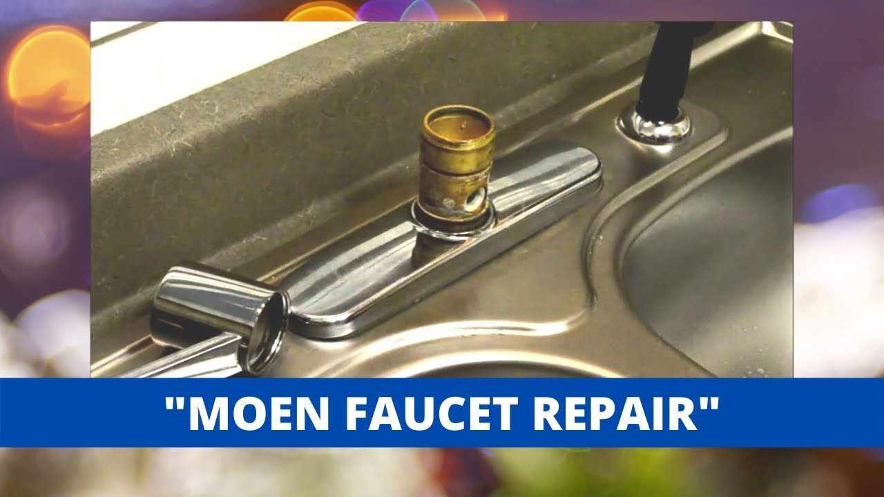 ordinary Kitchen Faucet Leaks From Handle #8: Moen Style Kitchen Faucet Repair - YouTube