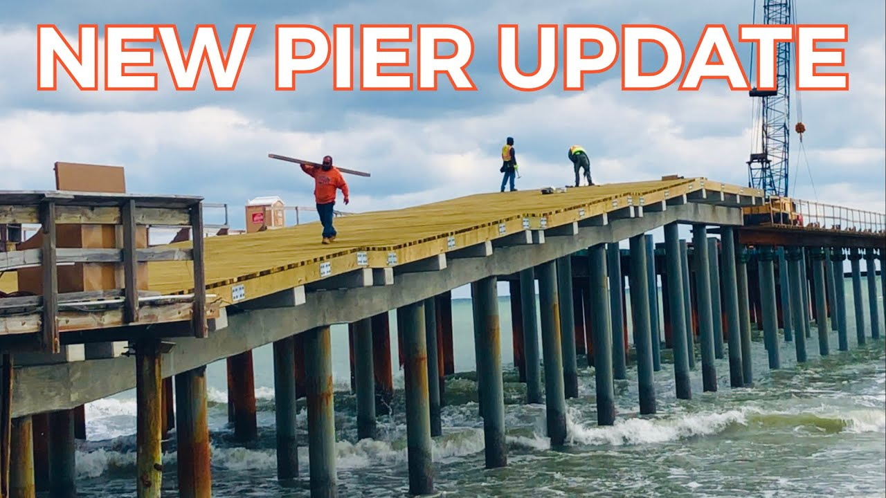 Springmaid Pier Construction Update