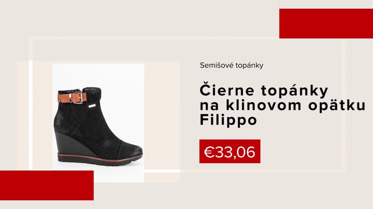 23cd53bef6 Pohodlné jesenné topánky členkové čierne čižmy s ozdobou CnB - NAJ ...