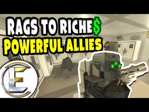 Powerful Allies   Unturned Roleplay Rags to Riches Reboot #10 - Building Up Resources For A Raid