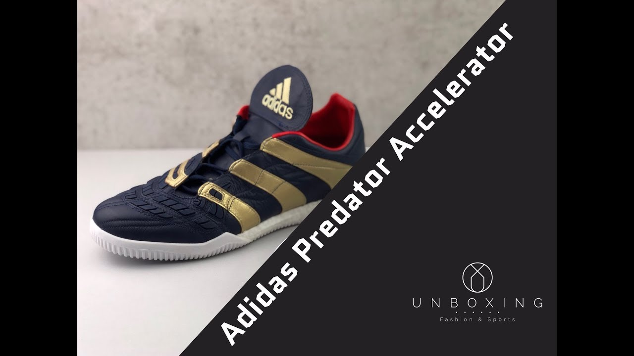 1d38d4ab195d Adidas Predator Accelerator Zinedine Zidane 'Navy/Gold/Red | UNBOXING & ON  FEET | football shoes